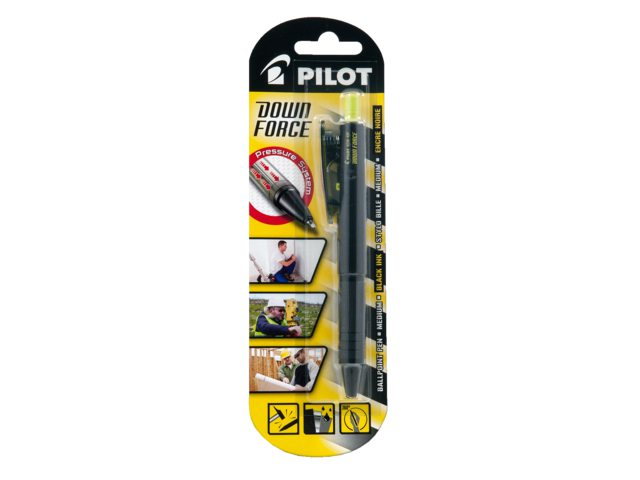 Balpen PILOT Down Force zwart medium