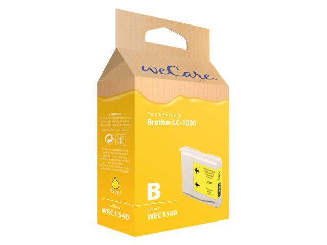 Inkcartridge Wecare Brother LC-1000 geel