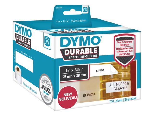 Etiket Dymo 1933081 labelwriter 25x89mm 700 stuks