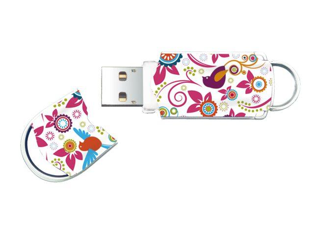 USB-Stick 2.0 Integral FD Xpression 8GB vogels en bloemen