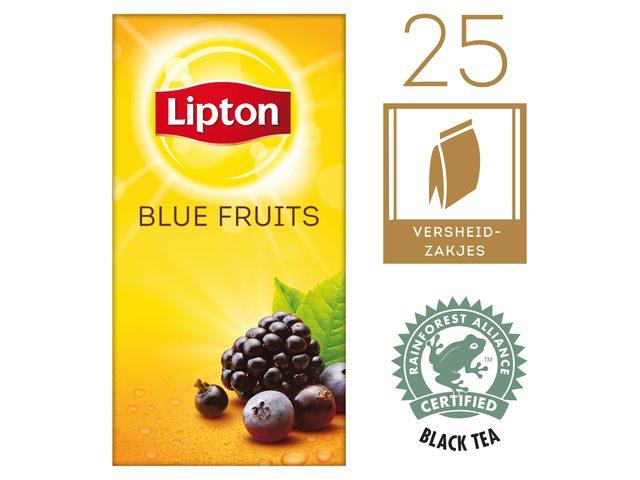 Thee Lipton Blue fruit met envelop 25stuks