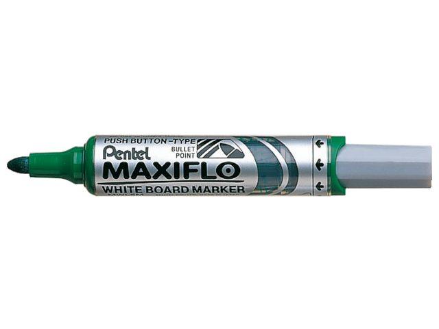 Viltstift Pentel MWL5M Maxiflo whiteboard groen 3mm