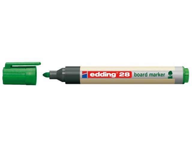 Viltstift edding 28 whiteboard Eco rond groen 1.5-3mm