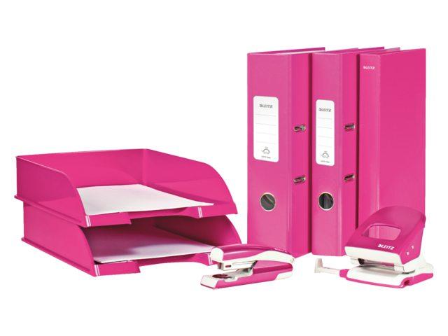 Ordner Leitz WOW 1005 A4 80mm karton roze