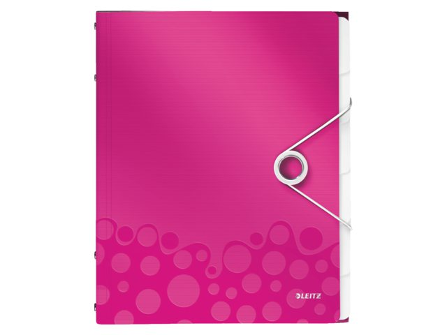 Sorteermap Leitz WOW PP 12-delig roze