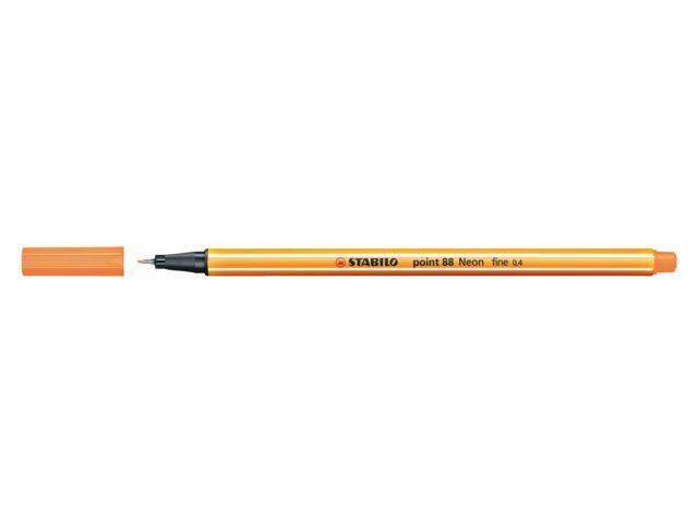 Fineliner Stabilo point 88/054 neon oranje