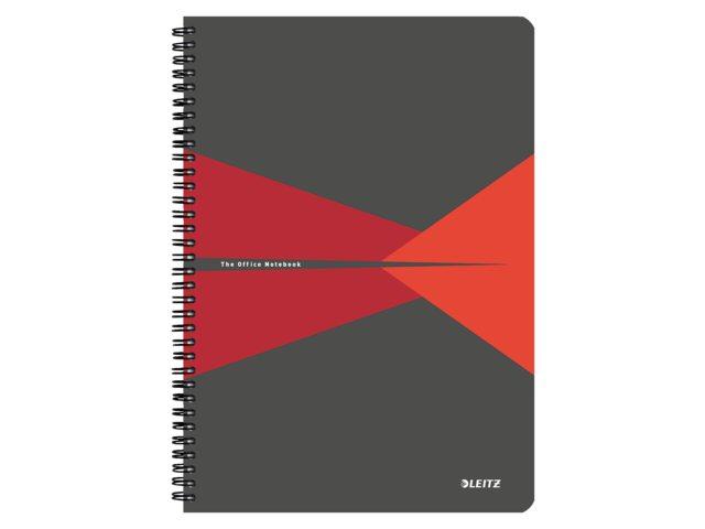 Notitieboek Leitz Office A4 lijn PP rood