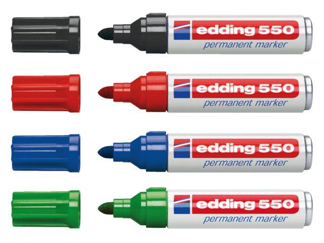 Viltstift edding 550 rond groen 3-4mm