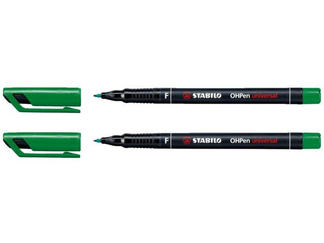 Viltstift Stabilo OHP 842/36 rond groen 0.7mm