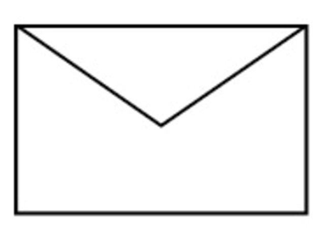 Envelop 90x140mm wit