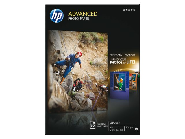 Inkjetpapier HP Q8698A A4 photo glossy 250gr 50vel