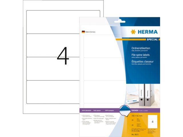 Rugetiket Herma 5090 192x38mm zelfklevend wit