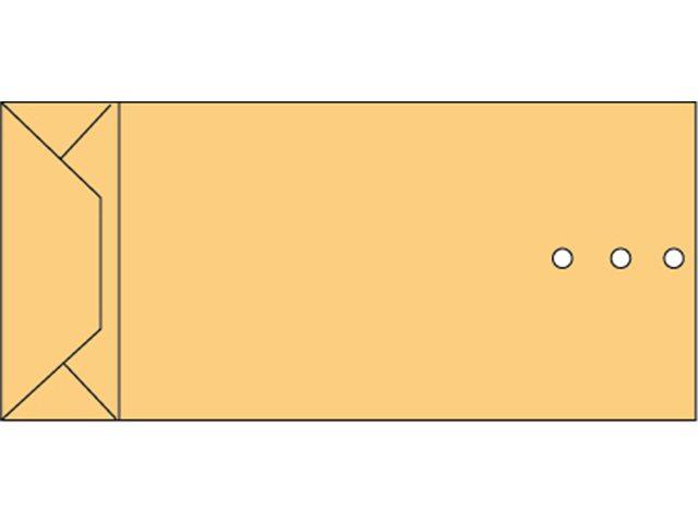 Envelop Quantore monsterzak 120x285x50mm bruin 250stuks