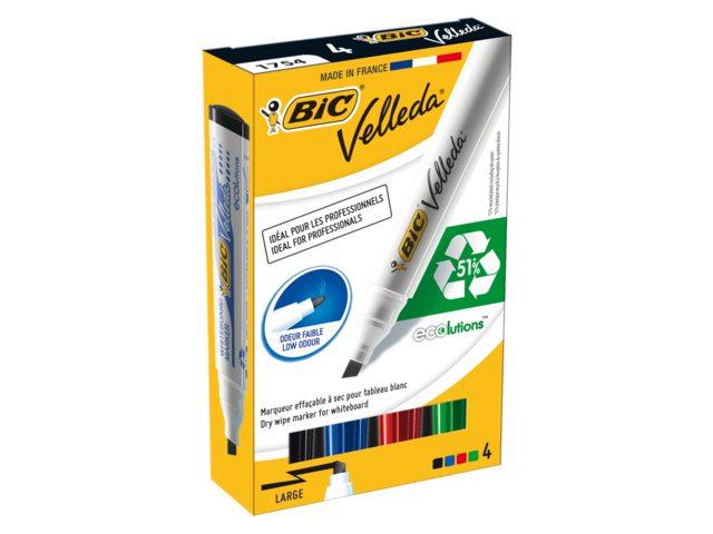 Viltstift Bic 1751 whiteboard schuin zwart 1.4mm