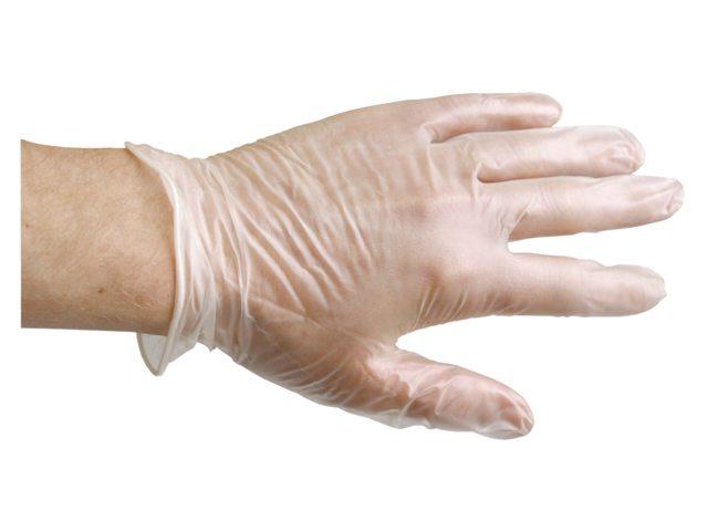 Handschoen PrimeSource Latex gepoederd Large wit