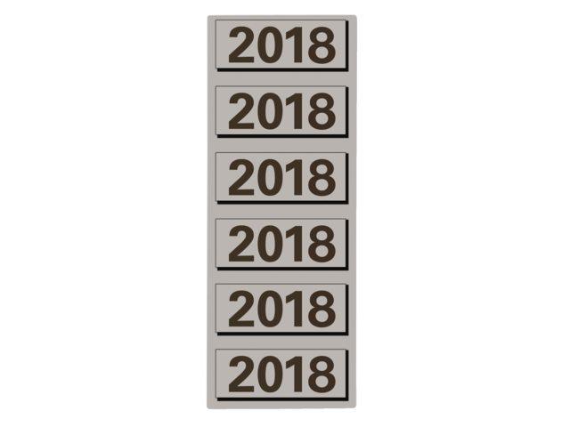 Rugetiket Elba 2018 grijs
