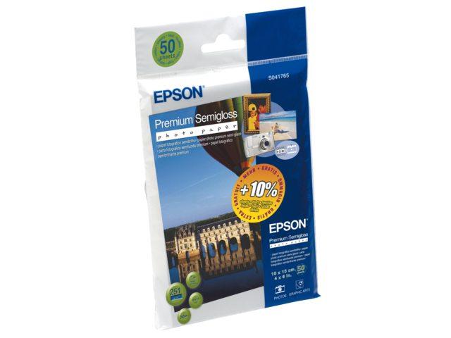 Inkjetpapier Epson SO41765 10x15cm 251gr semi gloss 50vel