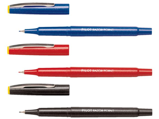 Fineliner PILOT Razor Point SW-10 PP blauw 0.3mm