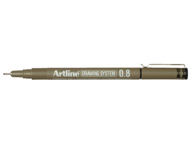 Fineliner Artline zwart 0.8mm