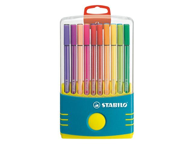 Viltstift Stabilo 68 box turquoise 20stuks assorti