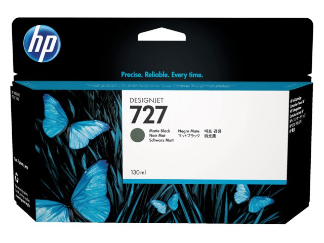 Inkcartridge HP B3P22A 727 mat zwart HC