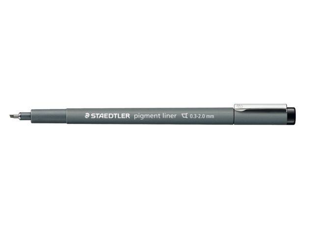 Fineliner Staedtler Pigment 308 zwart 0.3-2.0mm