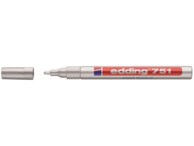 Viltstift edding 751 lakmarker rond zilver 1-2mm blister