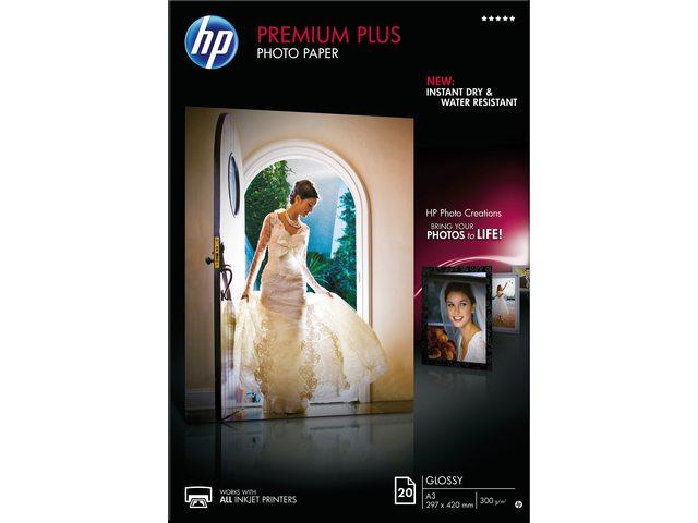 Inkjetpapier HP CR675A A3 prem hoog glans 300gr 20vel