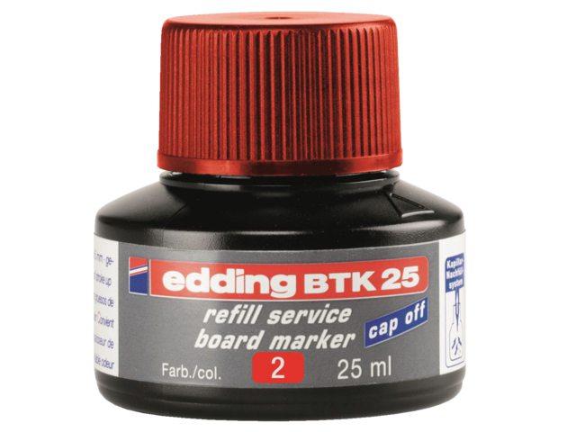 Viltstiftinkt edding BTK25 voor whiteboard rood