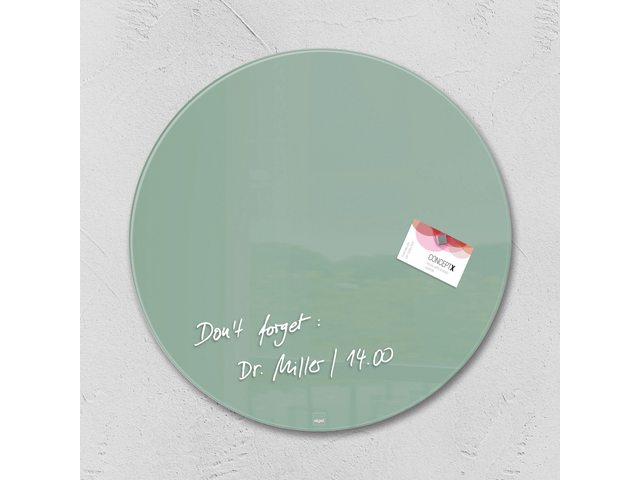 Glasbord Sigel magnetisch 400x15mm rond groen