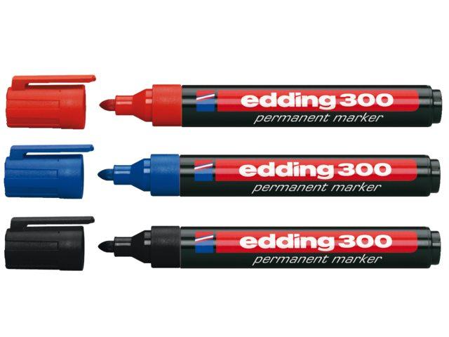 Viltstift edding 300 rond zwart 1.5-3mm