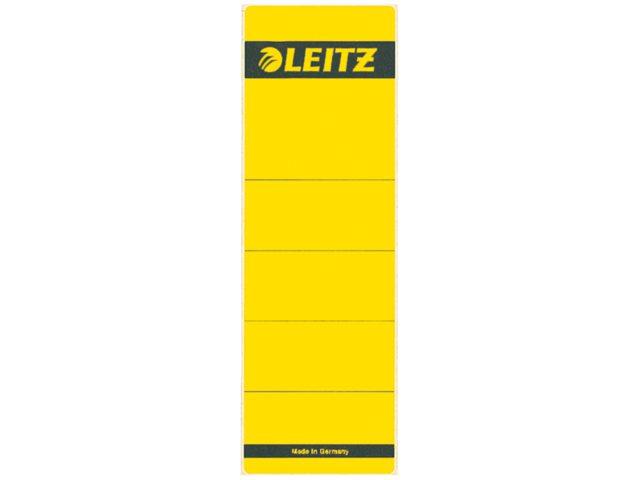 Rugetiket Leitz 1642 62x192mm zelfklevend geel
