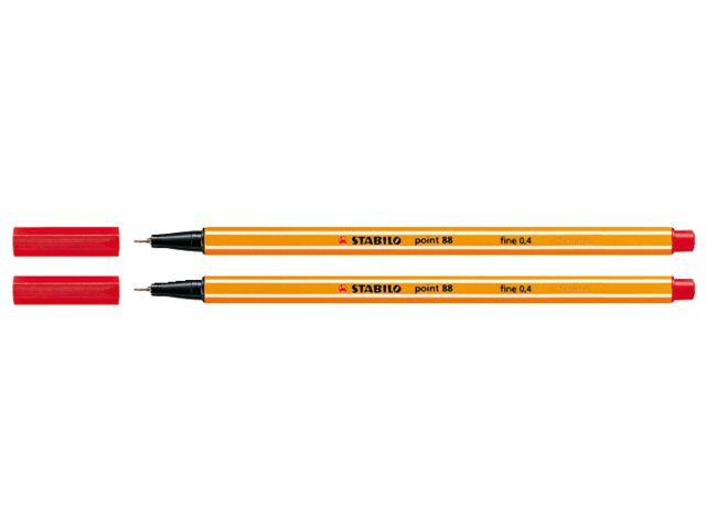 Fineliner Stabilo Point 88/40 rood