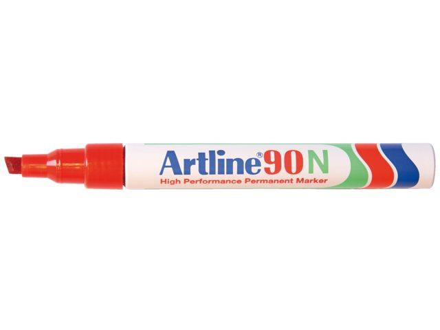 Viltstift Artline 90 schuin rood 2-5mm
