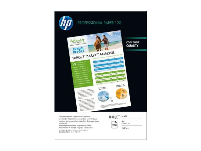 Inkjetpapier HP Q6593A A4 mat 120gr 200vel