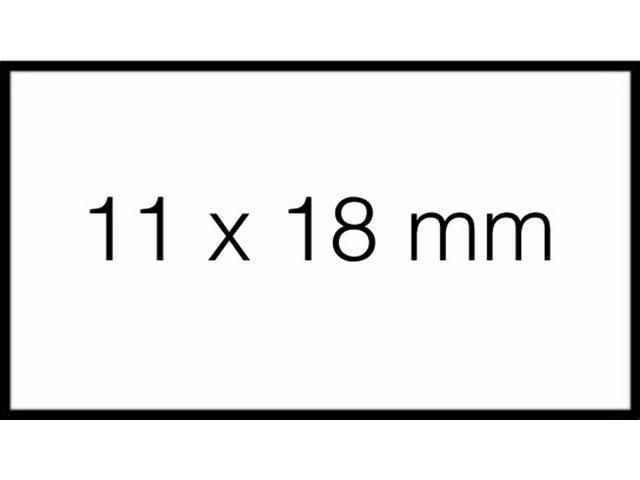 Prijsetiket 11x18mm Sato PB1 permanent wit