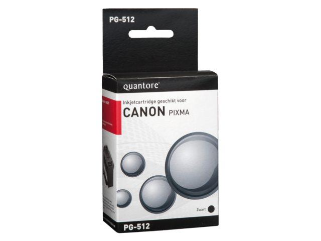 Inkcartridge Quantore Canon PG-512 zwart