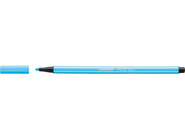 Viltstift Stabilo 68/031 neon blauw