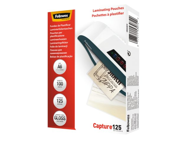 Lamineerhoes Fellowes A6 2x125micron 100stuks