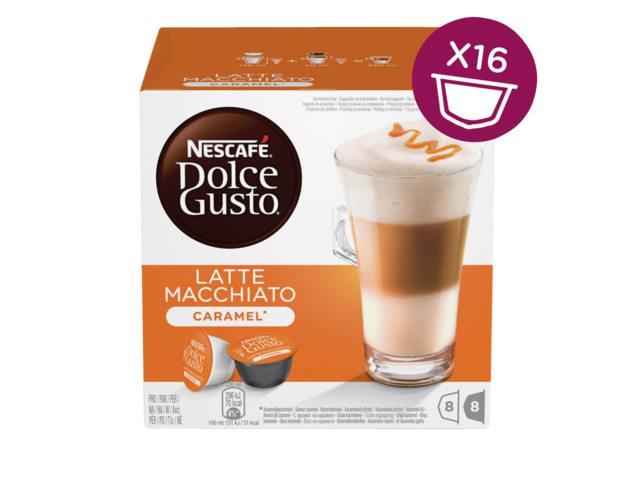 Koffie Dolce Gusto Latte Machiato Caramel voor 8 kopjes