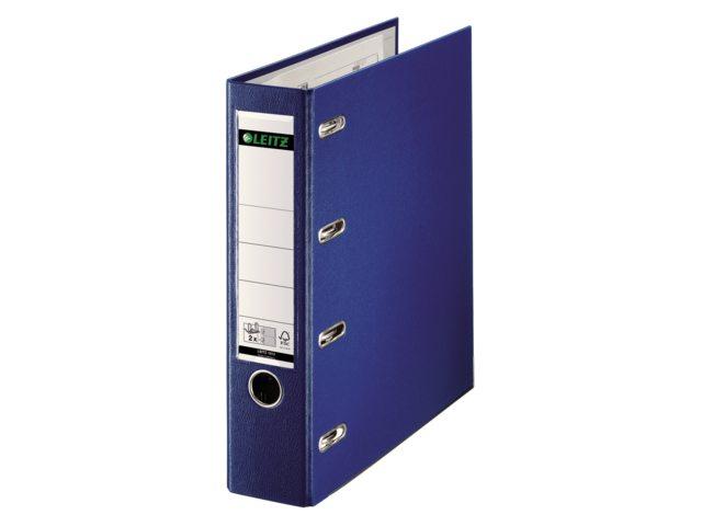 Ordner Bank Leitz 1012 A4 75mm PP 2 mechanieken blauw