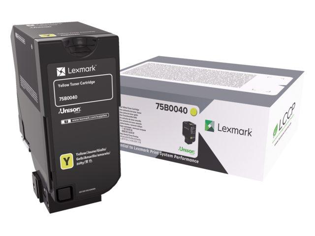 Tonercartridge Lexmark 75B0040 geel