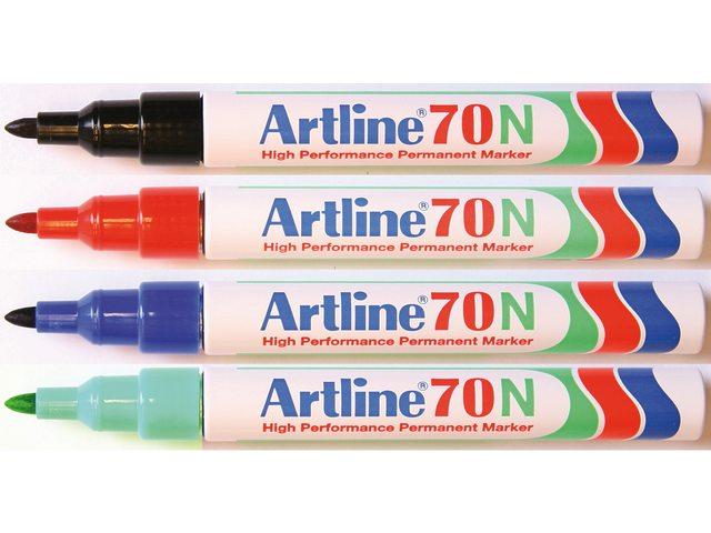 Viltstift Artline 70 rond blauw 1.5mm