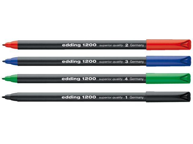 Fineliner edding 1200 groen 1mm
