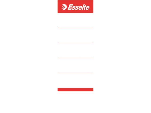 Rugetiket Esselte 50x158mm breed wit