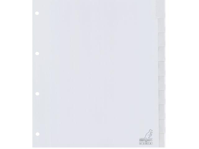 Tabbladen Kangaro 4-gaats G410F-B 10-delig+venster breed PP