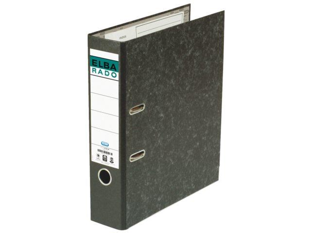 Ordner Elba Rado A4 75mm karton zwart gewolkt