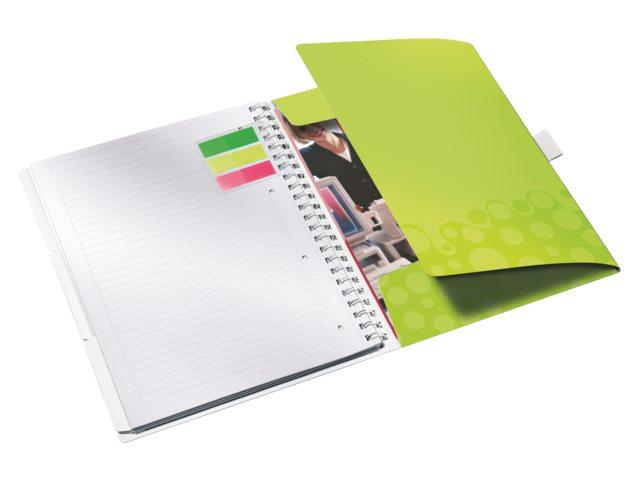 Notitieboek Leitz WOW Bi Mobile A4 PP lijn groen