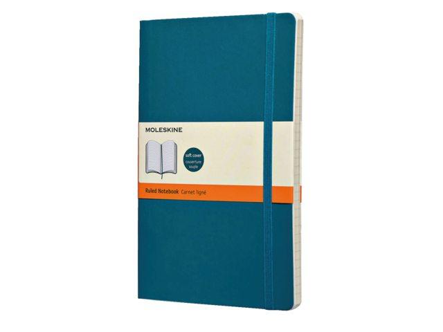 Notitieboek Moleskine lijn large 130x210mm zachte kaft blauw