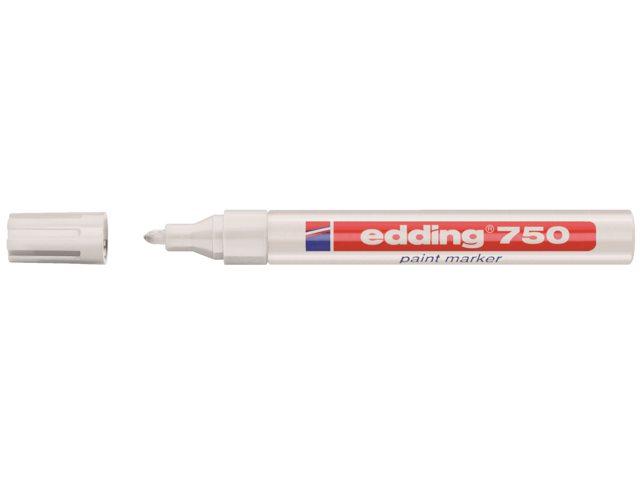 Viltstift edding 750 lakmarker rond wit 2-4mm